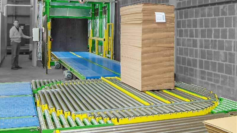 Eckumsetzer - HaRo - Als Kettenförderer ideal geeignet für die Einbindung zwischen die Tragrollen einer Rollenbahn