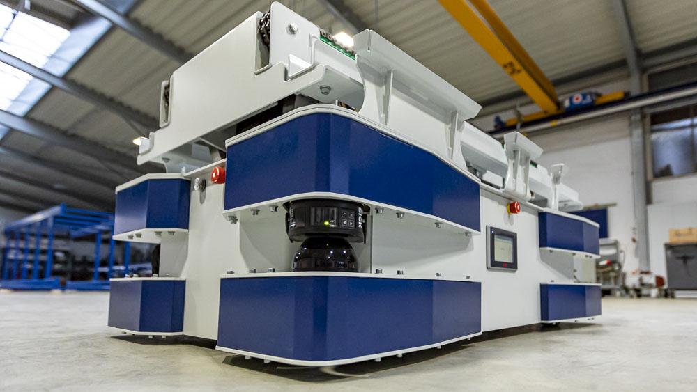 Moderne Fördertechnik - FTS mit 48V Gleichstrom - Ausdauer und Zuverlässigkeit