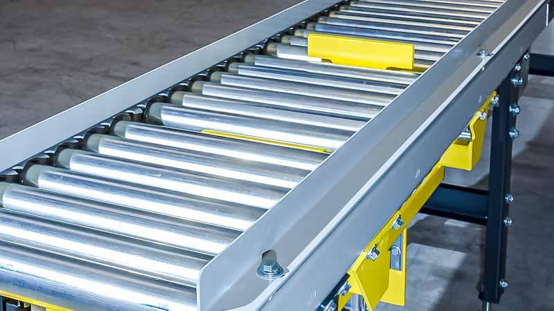 Flachstopper - HaRo - Ideal für die Vereinzelung und Separierung von Fördergütern und Kartons auf einer Rollenbahn