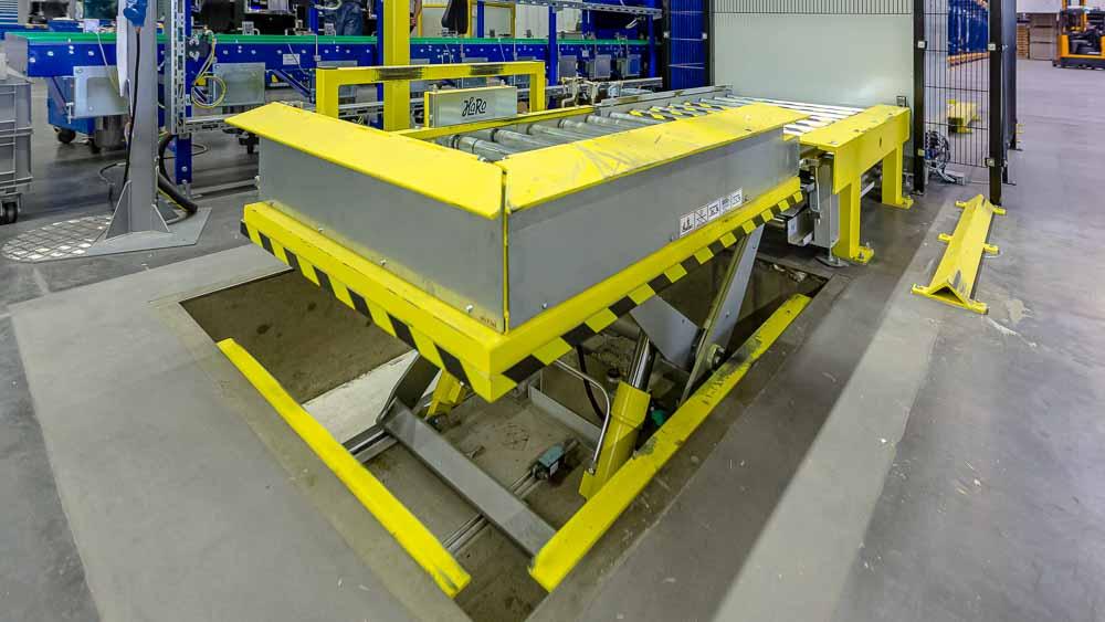 Hubeinheit - Der versenkbare Hubtisch als Höhenüberwindung für schwere Lasten