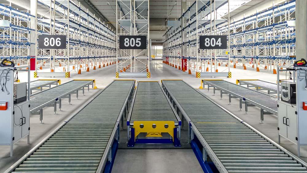 Industrie-Lagertechnik genötigt zuverlässige und robuste Technik - die Schwerlastrollenbahnen sind diesen Ansprüchen gewachsen