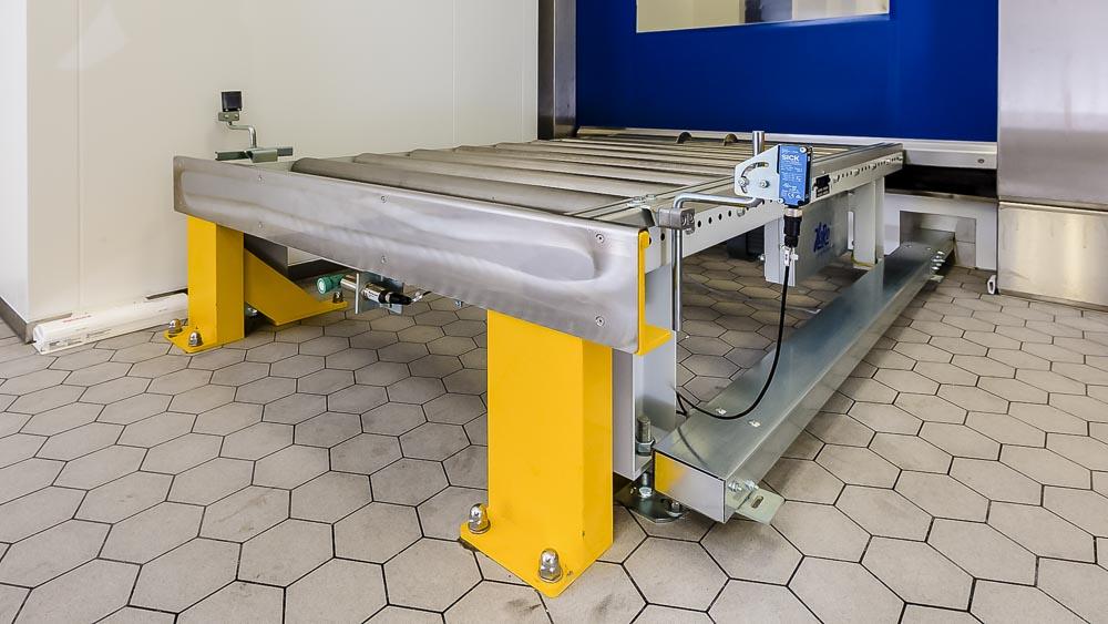 Rammbock und Ultraschall Wandler sind ein Bestandteil des Sicherheitskonzept für die Förderanlagen