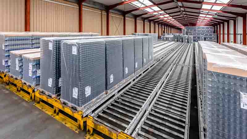 Rollenbahnen - Pufferplätze und Blockstau Verfahren bieten maximale Leistung auf engstem Raum