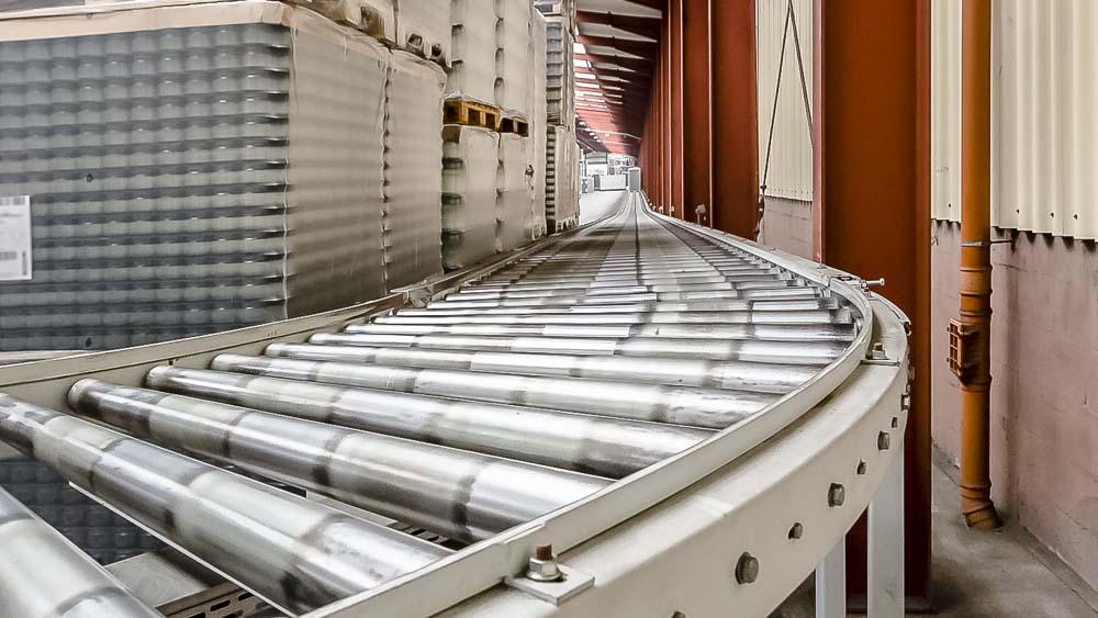 Schwerlastrollenbahn-Kurve - für den reibungslosen Paletten Transport