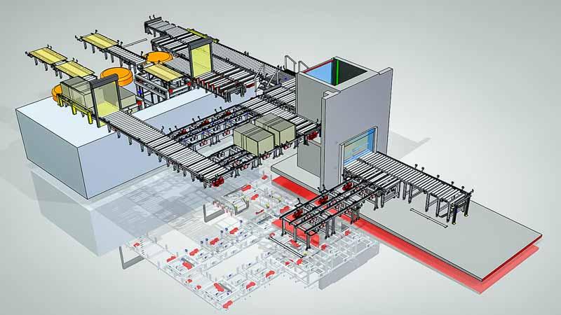 Hausinterne Anlagen-Konstruktion mit 3D CAD und Ablaufsimulationen
