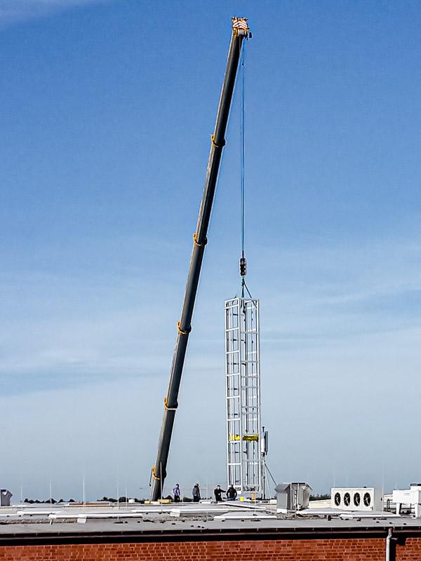 Vertikalförderer Montage - Ersatz für einen Lastenaufzug